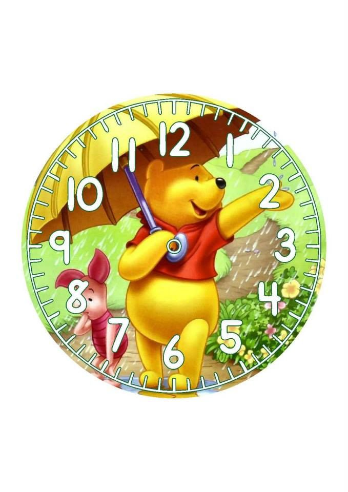 .winnie the pooh clock face