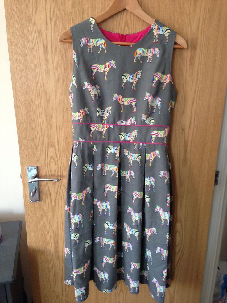 Gather Mortmain dress. Fabric from Ditto Fabrics, Brighton