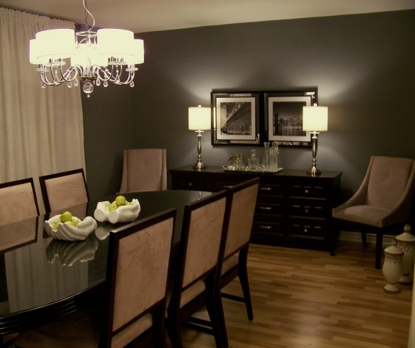 Dining Room Love The Dark Accent Wall Maybe Change From