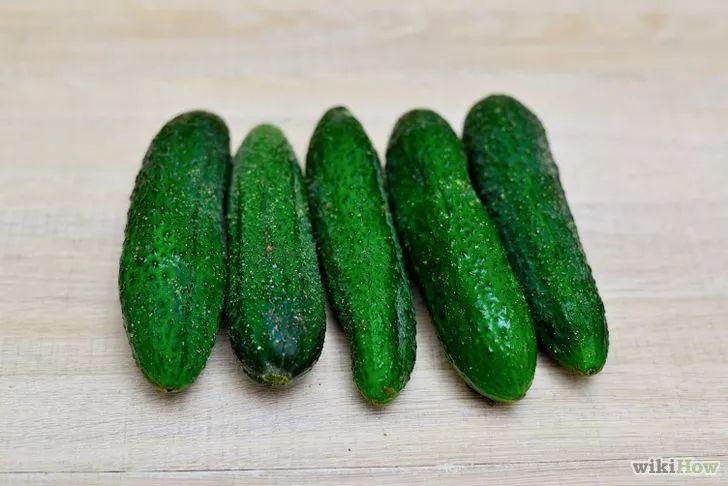 Imagen titulada Make Refrigerator Dill Pickles Step 1