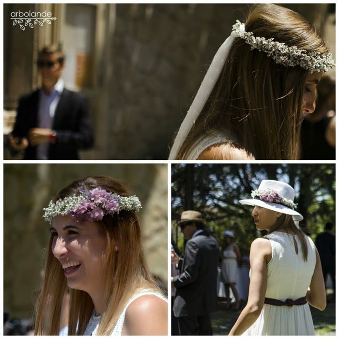 Coronita de flores preservadas para una novia :: Bridal flower ciclet