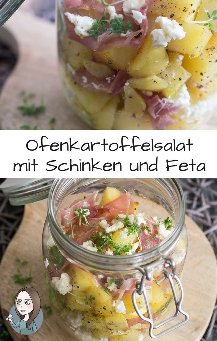 Ofenkartoffel Ham Salad im Glas Rezept   – Leckere Rezepte von MakeItSweet.de