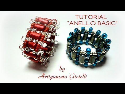 Tutorial anello con perline - Basic - Principianti - DIY bijoux beginners - YouTube
