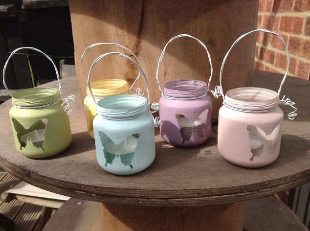 how to make mini lanterns using baby food jars , how to, lighting, outdoor living