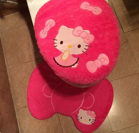 Hello kitty baño 3 unids conjunto lavabo cubierta de ...