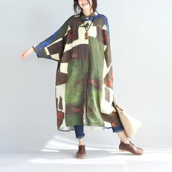 Spring Women Linen Long Shirt