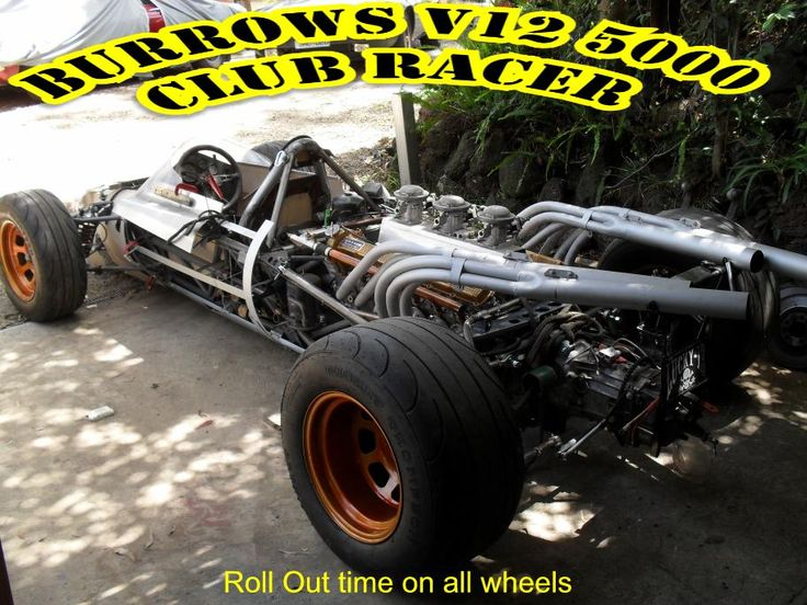 Burrows - Jag V12 Club Racer, it moves, it rolls, we have a car, now to finish off the mechanicals and fire it up.