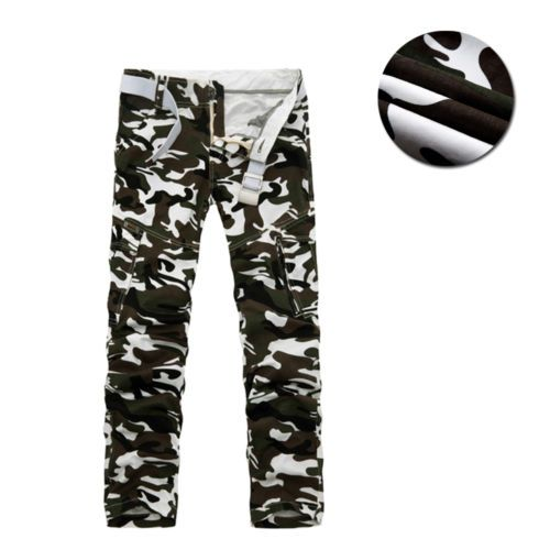 $26 - New-Casual-Men-039-s-Army-Cargo-Camo-Combat-Military-Camouflage-Trousers-Pants