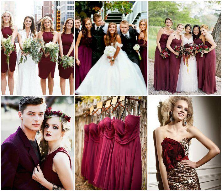Дресс-код для гостей на свадьбу цвета марсала