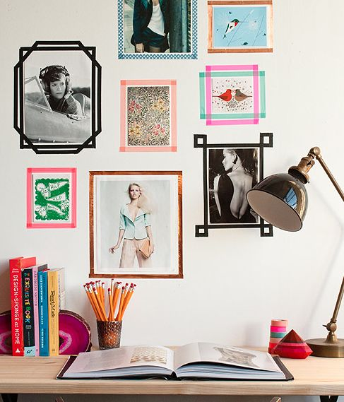 """DIY Washi Tape Frames - gonna do this to our engineer print so it has a little """"frame""""! #DIY"""