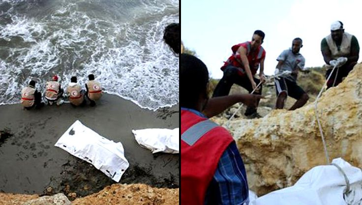 Decomposed bodies of migrants found washed up in Libya  - Read more at: http://ift.tt/1MYrKwJ
