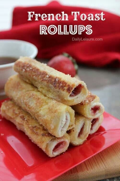 French toast roll up | Food | Pinterest