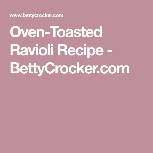 Oven-Toasted Ravioli Recipe - BettyCrocker.com