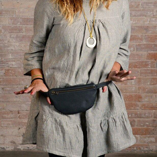 nubuck women belt bag belt bag leather pocket bag leather fanny pack Brown Leather Belt bag for women leather hip bag small bum bag