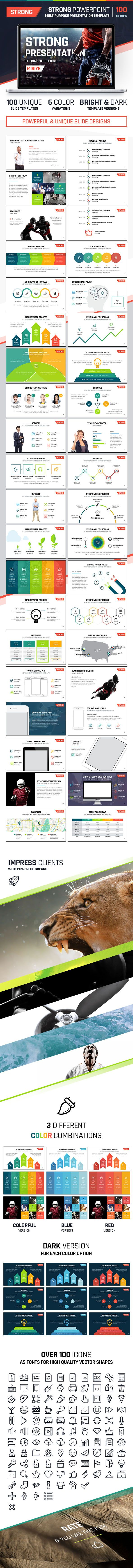 Strong PowerPoint - Multipurpose Presentation (Powerpoint Templates)