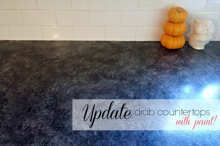 Kitchen Makeover Series Part 2: Faux Granite Countertops - You can get the look of granite with PAINT! Easy, and durable! An Exercise In Frugality