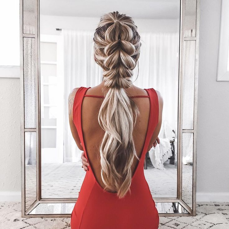 "Hair Styles Ideas :   Illustration   Description   14.4k Likes, 120 Comments – Kelsey Floyd  (Kelsey Floyd) on Instagram: ""Open back gowns are a must! Windsor Store #windsorgirl Ad.  Find links to this look on the…""    -Read More –   - #Hairstyle"