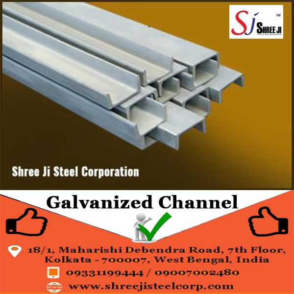 Shree Ji Steel Corporation offers a wide collection of , Galvanized Steel Channels .Sourced from some of the reliable vendors of the market especially from Steel Authority of India Ltd, these are fabricated using high grade mild steel in the production process.   These steel channels are widely used as a structural support in construction works.  To know more about us, please call at +919331199444  Shree Ji Steel Corporation is an ISO 9001:2008 certified company.  #Steel_Channel, #C_Channel
