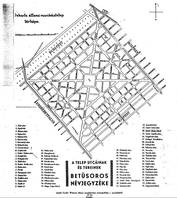 Régi Wekerle térkép.