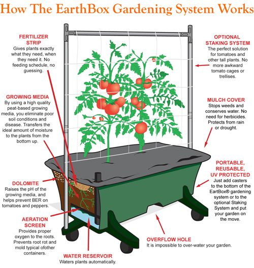 How Does The Earthbox Gardening System Works... Self Watering Planters.