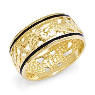Hawaiian Heirloom Jewelry in 14K Yellow Gold.