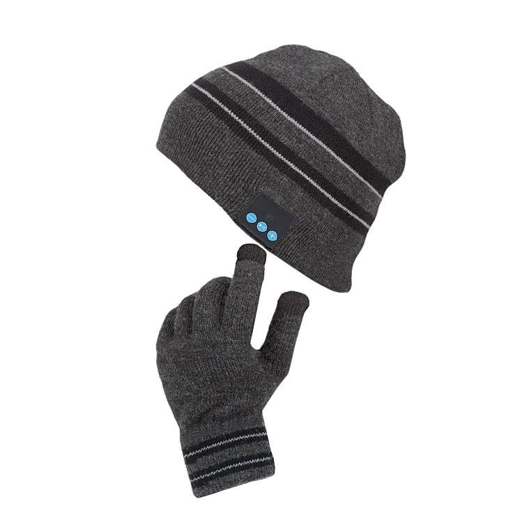 Bonnet bluetooth® et gants tactiles - Au chaud et connecté, en toute discrétion ! - 49,95 €