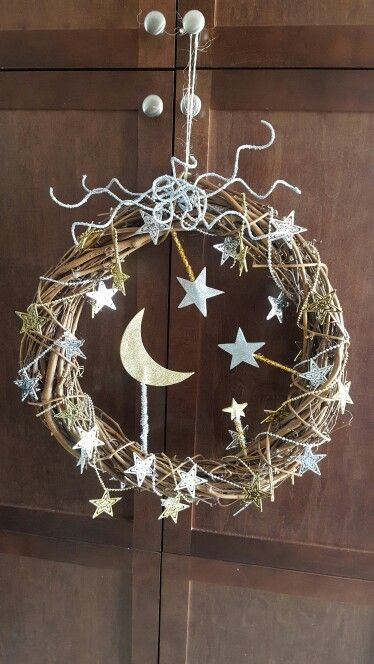 Ramadan wreath, a beautiful way to decorate your door during this holy month. #ramadan #eid #decor