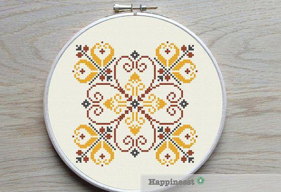 moderne de croix broderie ornement géométrique par Happinesst
