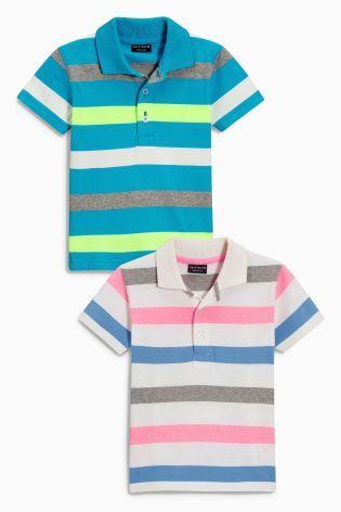 Купить Набор из двух рубашек поло в цветную полоску (3 мес.-6 лет) - Покупайте прямо сейчас на сайте Next: Россия