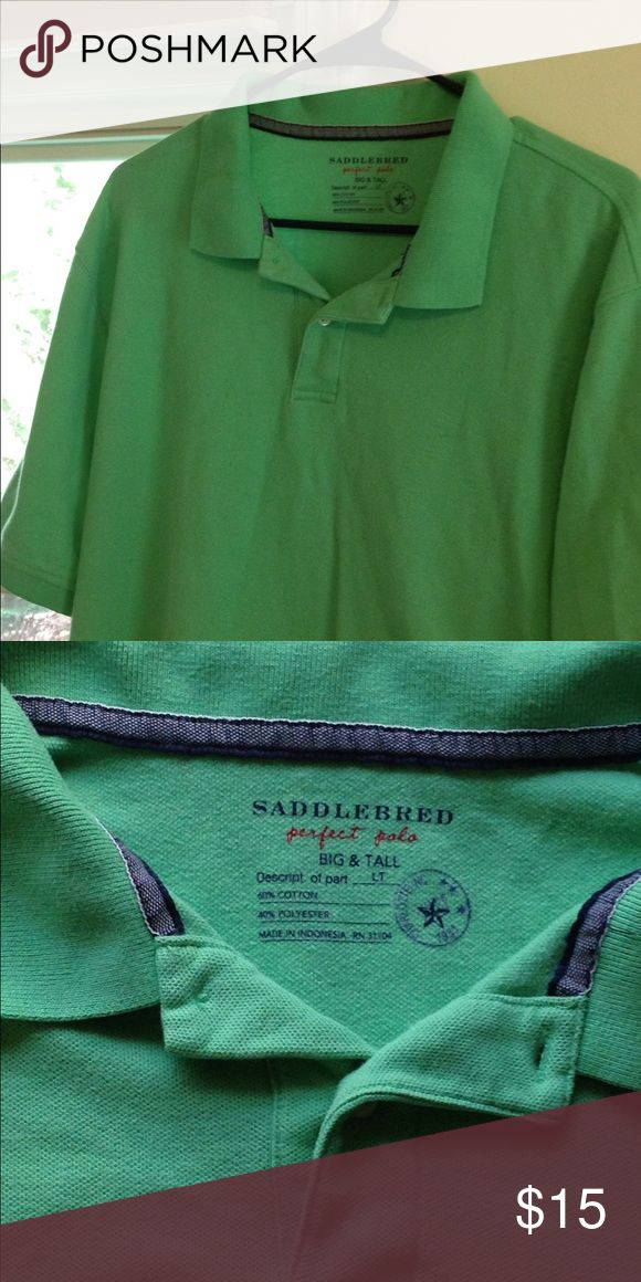 Large Saddlebred Green Men's Polo Shirt This Saddlebred brand polo shirt is in great used condition! It is a pretty shade of green and is size large. Saddlebred Shirts Polos