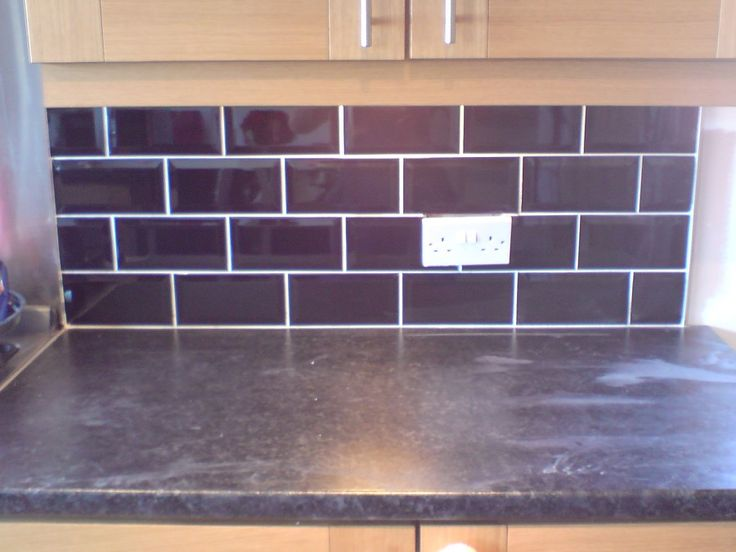 Pin by Tina Steele on remodel  Brick style tiles Splashback Backsplash
