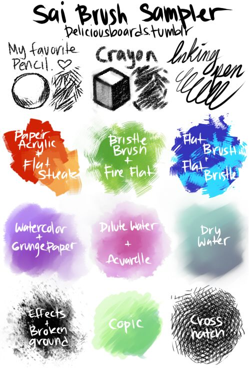 Paint tool sai download brushes