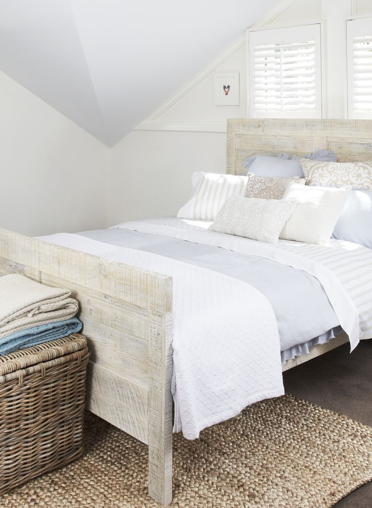 Channel clean, simple lines with this Lyon bed. Made from recycled and repurposed wood and hand-painted, the bed is available in King or Queen bed, with matching bedside tables, tallboy, dresser with mirror and day bed - exclusively from Bedshed.