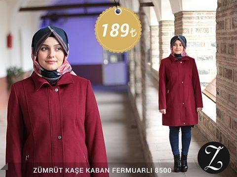 Zümrüt Kaşe Kaban Fermuarlı 8500 Fiyat, soru ve siparişleriniz için bizi arayabilir veya Whatsapp üzerinden iletişime geçebilirsiniz : 0 545 675 16 16 #moda #kaban #manto #sonbahar #pardesü #hijab #tesettür #kapalıgiyim #tesettürgiyim #fashion #hijabfashion #trend #kombin #kaşe #tesettürmoda #deri #style #stil #bursa #çarşı #yenisezon #tesettürtrend #türban #tunik #eşarp #başörtüsü #kampanya #indirim #fallwinter #ferace