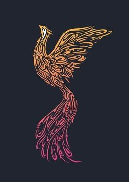 The Rising Phoenix symbolizes the ability to rise above a troubled life and represents victory over death. Absolutely love the meaning and this particular design.