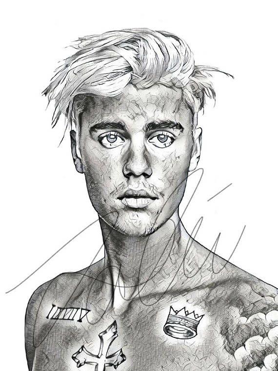 Niedlich Justin Bieber Malvorlagen Zum Ausdrucken Zeitgenössisch ...