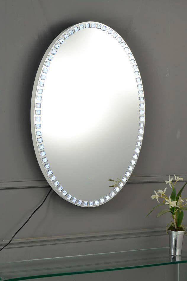 Espejo LED ovalado Tirey