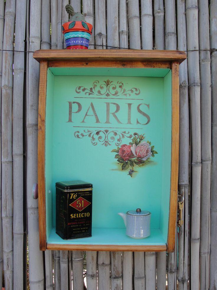163 best reciclado de cajas y botes de todo tipo manualidades y decoraci n vintage y shabby chic - Decoracion vintage reciclado ...