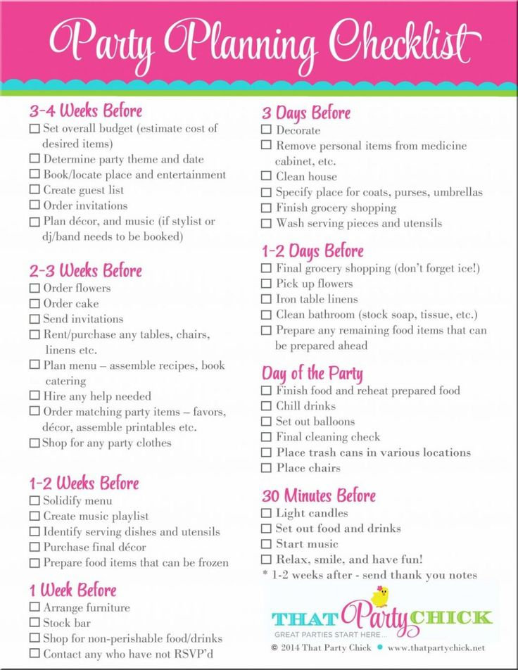 9 best party c list images on Pinterest Birthdays, Party ideas and