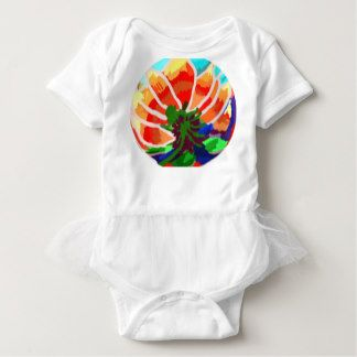 Baby Tutu Bodysuit Lotus Flower Graphic Chic