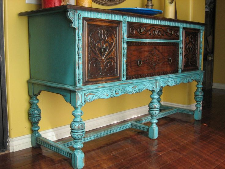 How bold do I go with my fireplace mantle? European Paint Finishes: ~ Old World European Sideboard ~