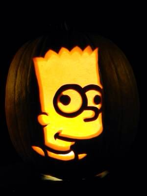 20 best the simpsons party ideas images on pinterest simpsons bart simpson pumpkin carving pronofoot35fo Image collections