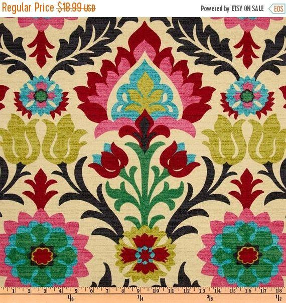 Southwestern Fabric, Mexican Fabric, Tela Mexicana, Cinco de Mayo Fabric, Santa…