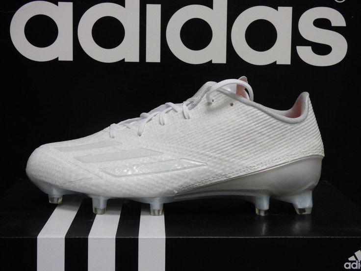 NEW ADIDAS Adizero 5-Star 5.0 Mens Football Cleats  White/White; Q16063