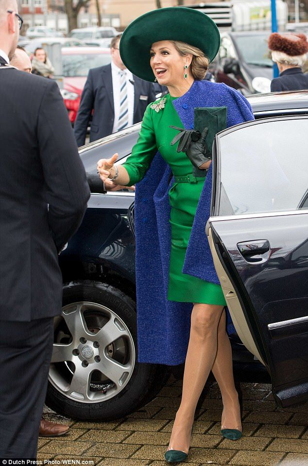 Queen Maxima of the Netherlands, 47, looked perfectly polished for an engagement this afternoon - hours after she made a rare make-up free appearance in Amsterdam.