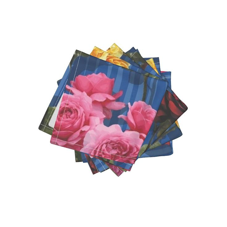 Frizzle Cocktail Napkins featuring Blue roses by angelfraser   Roostery Home Decor
