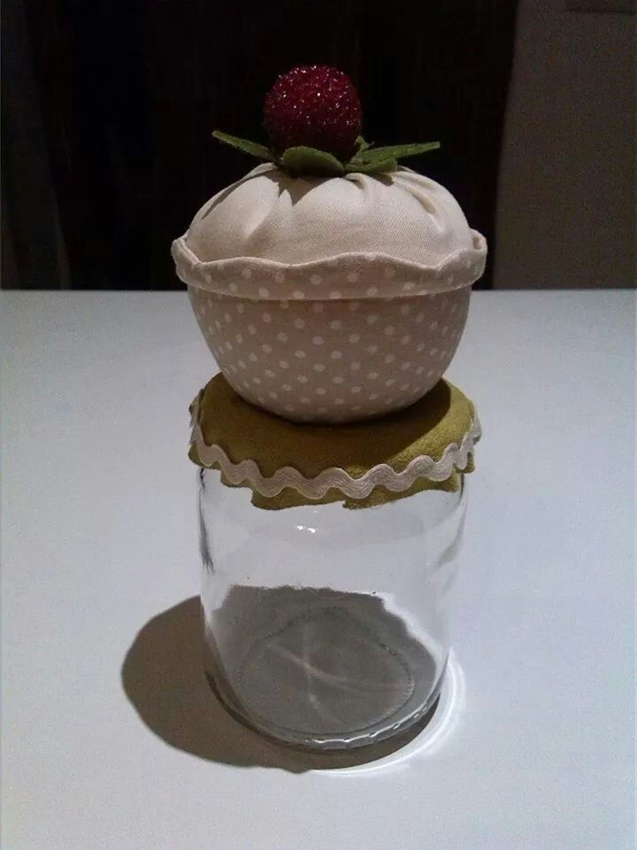 Barattolo cupcake puntaspilli