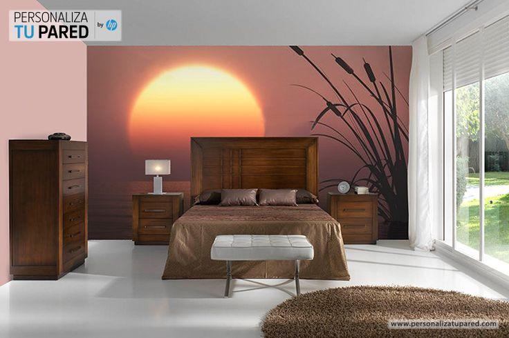 Fotomural personalizado en una habitaci n de matrimonio for Vinilos pared habitacion matrimonio