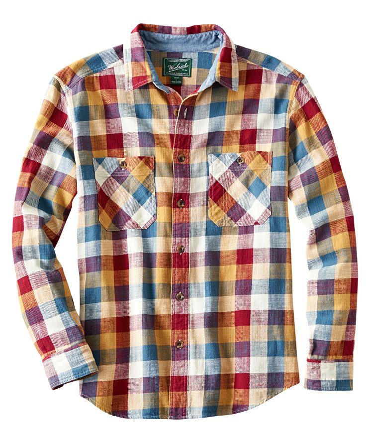 Men's Homespun Plaid Flannel Shirt
