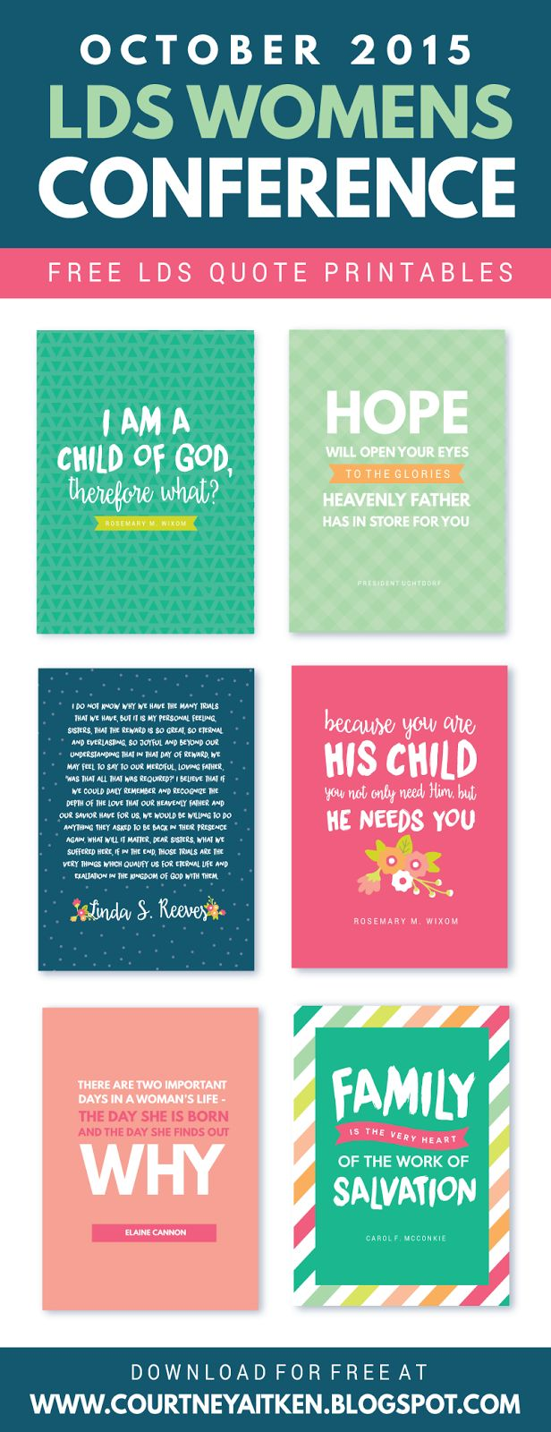 LDS Womens Conference FREE Printables (October 2015)